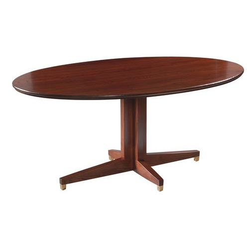 Oval Cross Over Base Table