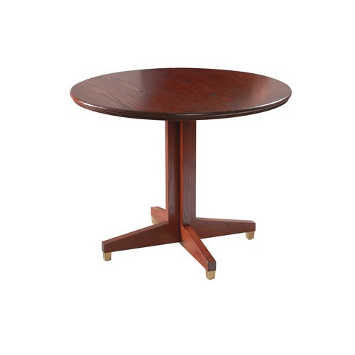 Wooden Top Cross Over Base Table