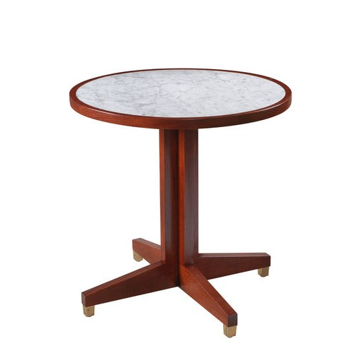 Marble Top Cross Over base Table