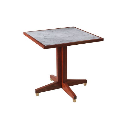 Square Marble Top Cross Over base Table