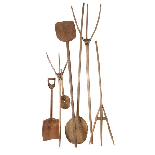 Wide Selection of Vintage Wooden Implements