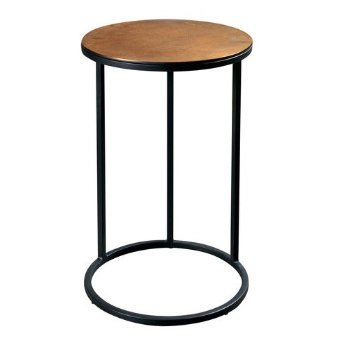 Round Metal Base Chairside Table