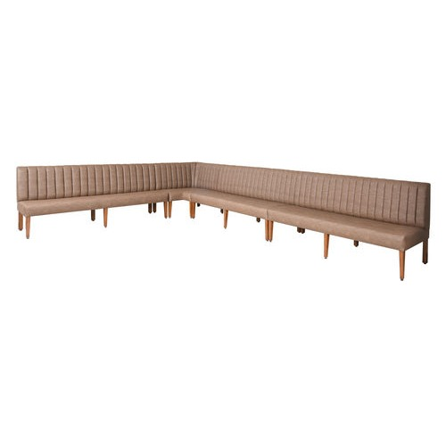 Banquette with tapered legs