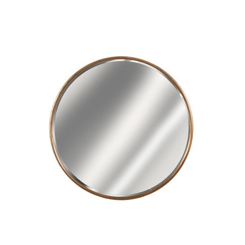 Gold Framed Round Mirror